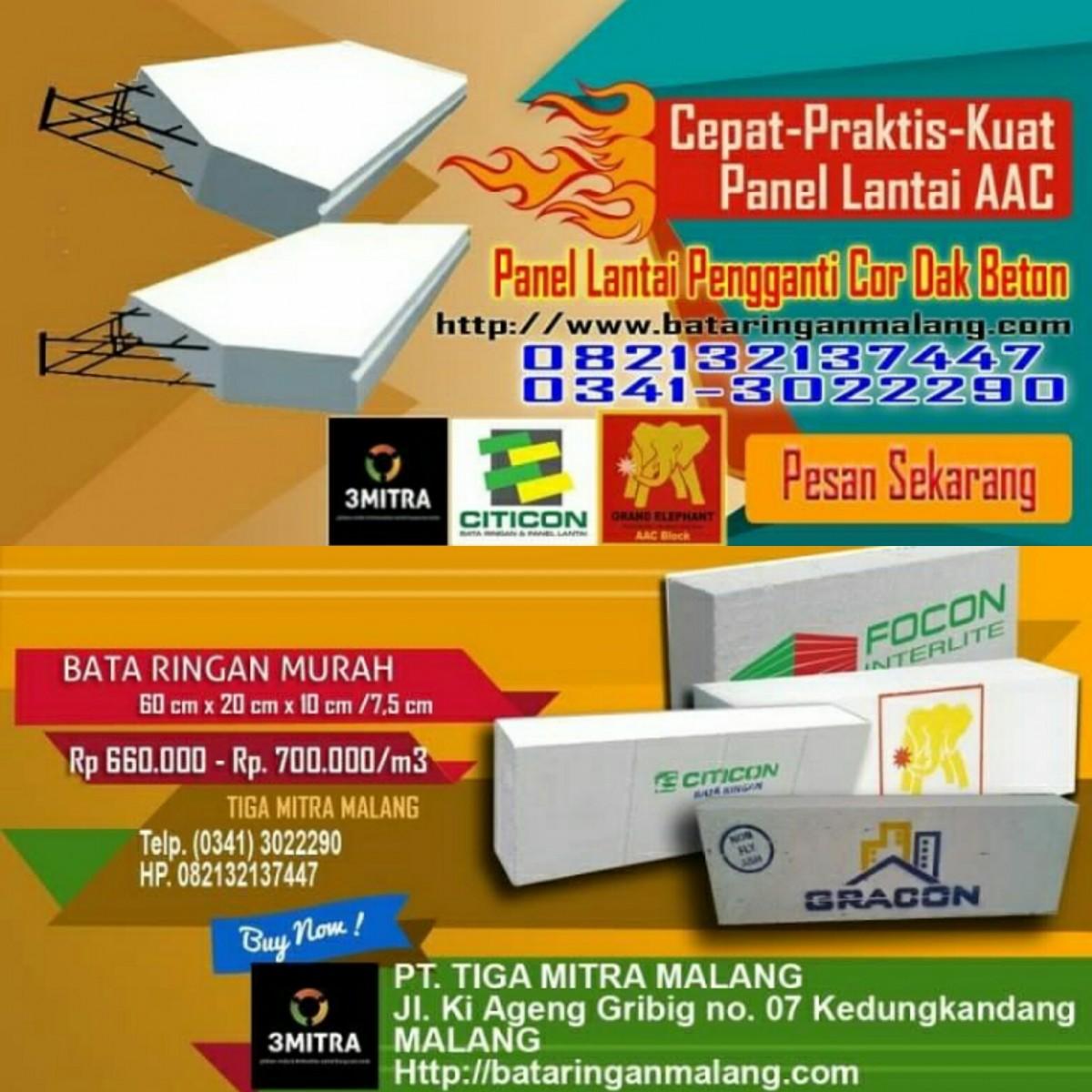 Jual Bata Ringan Malang - 081230065008 Sekilas Tentang Bata Ringan AAC