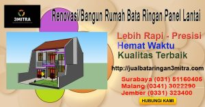 Jual Bata Ringan Malang - 081230065008 Renovasi Rumah Dengan Bata Ringan, Semen Mortar dan Panel Lantai di Malang