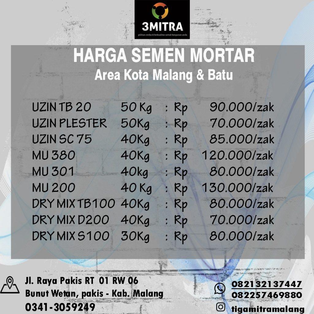 PT. TIGA MITRA SURABAYA - CAB. MALANG SEMEN INSTAN / MORTAR